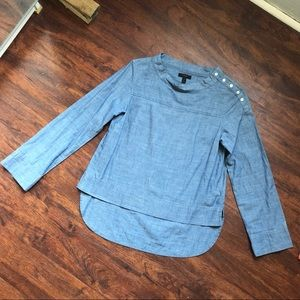 Chambray J. Crew button-shoulder shirt